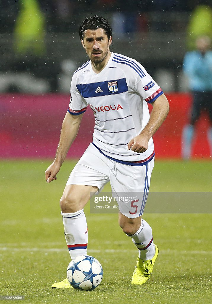 <a gi-track='captionPersonalityLinkClicked' href=/galleries/search?phrase=Milan+Bisevac&family=editorial&specificpeople=600075 ng-click='$event.stopPropagation()'>Milan Bisevac</a> of Lyon in action during the UEFA Champions League match between Olympique Lyonnais (Lyon, OL) and KAA Gent (Ghent, La Gantoise) at Stade de Gerland on November 24, 2015 in Lyon, France.