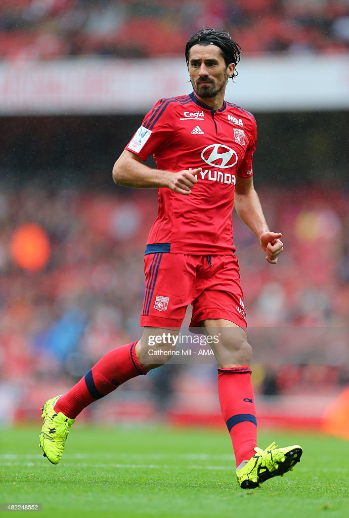 <a gi-track='captionPersonalityLinkClicked' href=/galleries/search?phrase=Milan+Bisevac&family=editorial&specificpeople=600075 ng-click='$event.stopPropagation()'>Milan Bisevac</a> of Olympique Lyonnais during the Emirates Cup match between Olympique Lyonnais and Villarreal at Emirates Stadium on July 26, 2015 in London, England.