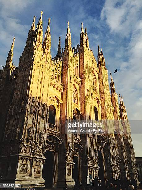 Milan Cathedral Against Cloudy Sky