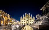 Milan Cathedral, Piazza del Duomo at night, Lombardia, Italy