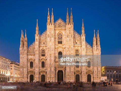 Milan Cathedral, Piazza Duomo at night, Milan, Lombardy, Italy