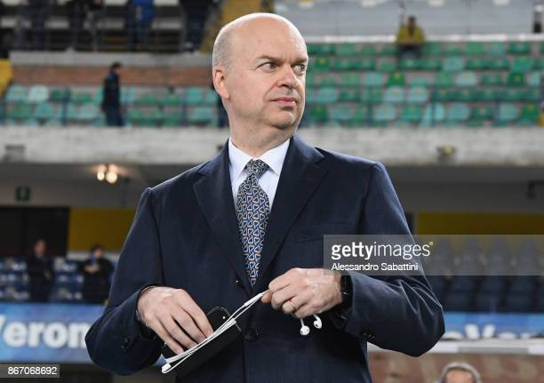 Milan CEO Marco Fassone looks on before the Serie A match between AC Chievo Verona and AC Milan at Stadio Marc'Antonio Bentegodi on October 25 2017...