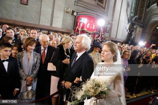 Milan Cile Marinkovic during wedding of Prince Philip of Serbia and Danica Marinkovic at The Cathedral Church of St Michael the Archangel on October...