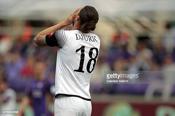 Milan Djuric of AC Cesena shows his dejection during the Serie A match between ACF Fiorentina and AC Cesena at Stadio Artemio Franchi on May 3 2015...