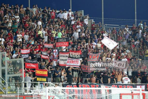 Milan fans during the Serie A match between FC Crotone and AC Milan Milan won 30