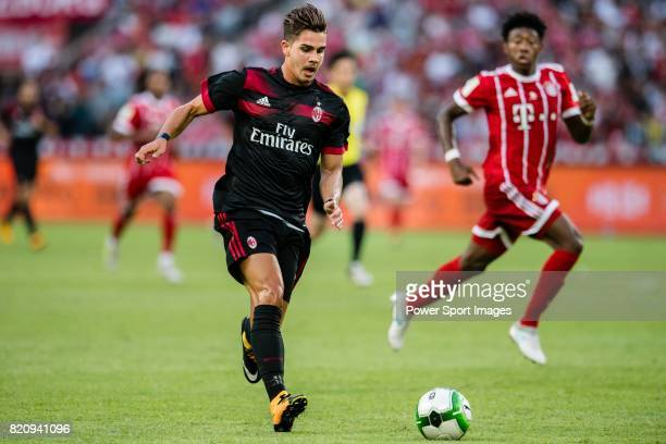Milan Forward Gianluca Lapadula in action during the 2017 International Champions Cup China match between FC Bayern and AC Milan at Universiade...