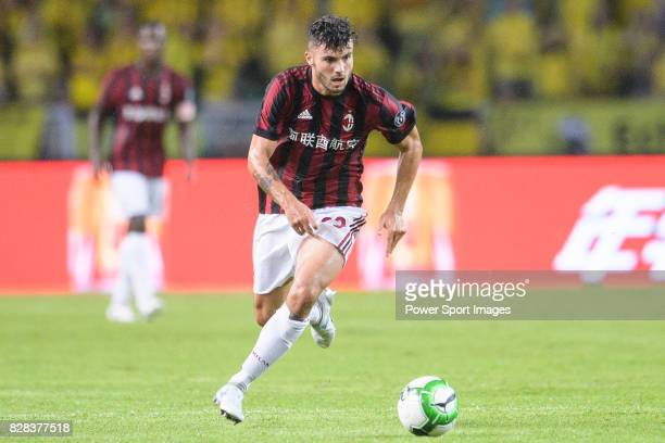 Milan Forward Patrick Cutrone in action during the International Champions Cup 2017 match between AC Milan vs Borussia Dortmund at University Town...