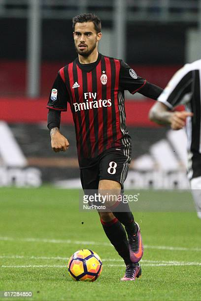 Milan forward Suso in action during the Serie A football match n9 MILAN JUVENTUS on at the Stadio Giuseppe Meazza in Milan Italy