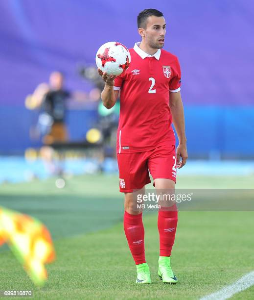 Milan Gajic during the UEFA European Under21 match between Serbia and FYR Macedonia at Arena Bydgoszcz on June 20 2017 in Bydgoszcz Poland