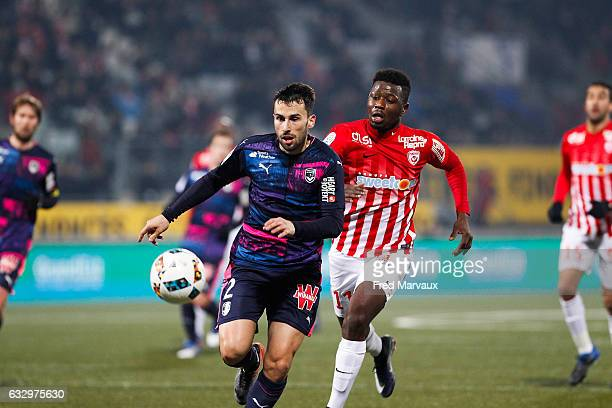 Milan Gajic of Bordeaux and Abdou Coulibaly of Nancy during the French Ligue 1 match between Nancy and Bordeaux Stade Marcel Picot on January 28 2017...