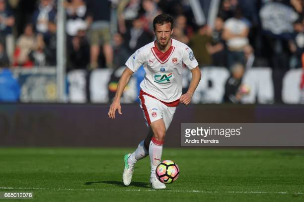 Milan Gajic of Bordeaux during the French National Cup Quarter Final match between SCO Angers and Girondins Bordeaux on April 5 2017 in Angers France