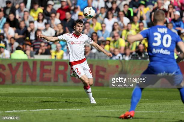 Milan Gajic of Bordeaux during the Ligue 1 match between Fc Nantes and Girondins Bordeaux at Stade de la Beaujoire on April 16 2017 in Nantes France