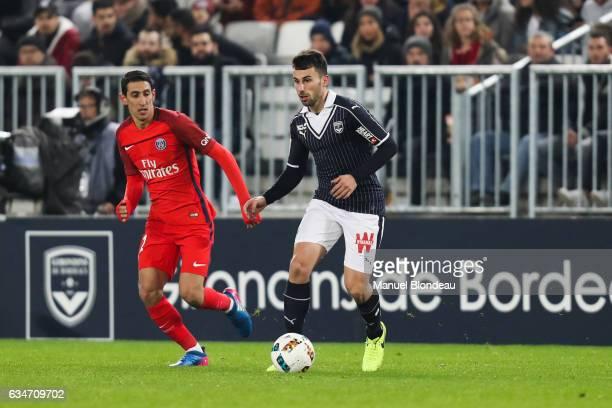Milan Gajic of Bordeaux during the Ligue 1 match between Girondins Bordeaux and Paris Saint Germain PSG at Nouveau Stade de Bordeaux on February 10...