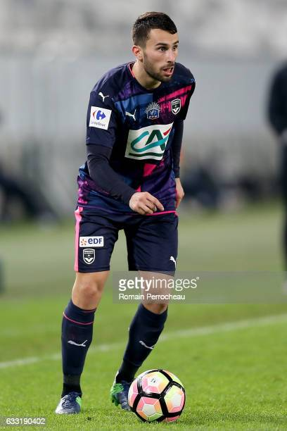 Milan Gajic of Bordeaux in action during a French cup match between Bordeaux and Dijon at stade Matmut Atlantique on January 31 2017 in Bordeaux...