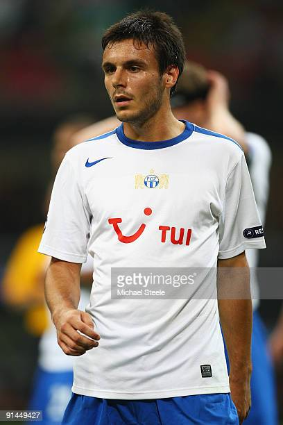 Milan Gajic of Zurich during the UEFA Champions League Group C match between AC Milan and FC Zurich at the San Siro stadium on September 30 2009 in...