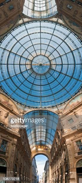 Milan Galleria Vittorio Emanuele vertical dome