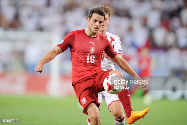 Milan Havel during the UEFA European Under21 match between Czech Republic and Denmark at Arena Tychy on June 24 2017 in Tychy Poland