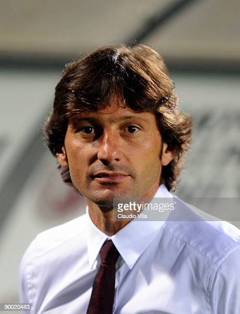 Milan head coach Leonardo during the Serie A match between Siena and Milan at Artemio Franchi Montepaschi Arena Stadium on August 22 2009 in Siena...
