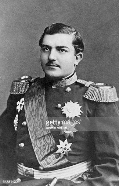 Milan I of Serbia King of Serbia *22081854 King of Serbia 18821889 Portrait about 1870 Vintage property of ullstein bild