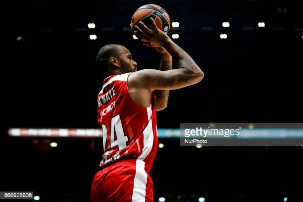 Milan Italy 26th october 2017 Amath MBaye shoots a layup during a game of Turkish Airlines Euroleague basketball between AX Armani Exchange Milan vs...