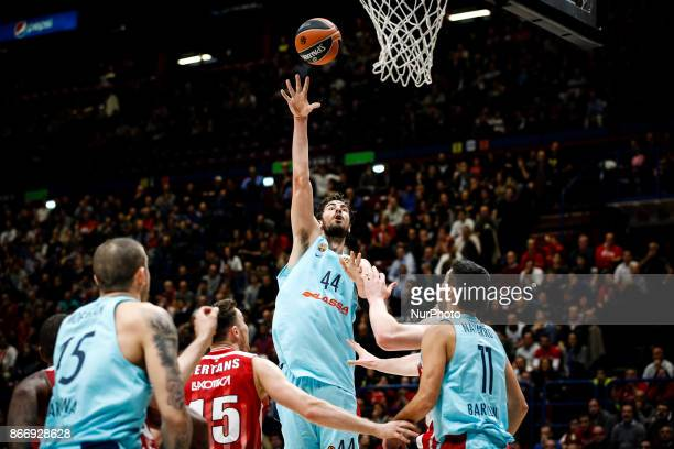 Milan Italy 26th october 2017 Ante Tomic shoots a layup during a game of Turkish Airlines Euroleague basketball between AX Armani Exchange Milan vs...
