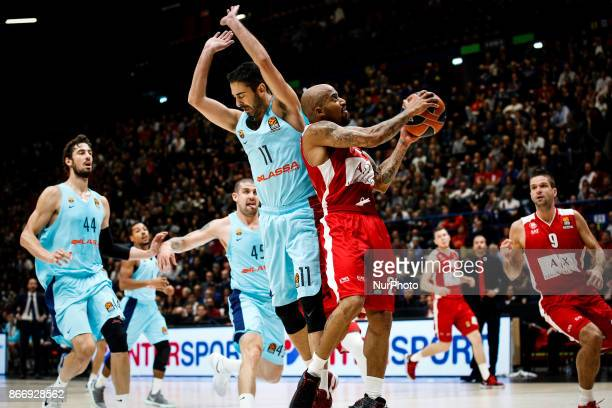 Milan Italy 26th october 2017 Jordan Theodore shoots a layup during a game of Turkish Airlines Euroleague basketball between AX Armani Exchange Milan...