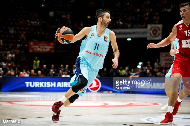 Milan Italy 26th october 2017 Juan Carlos Navarro shoots a layup during a game of Turkish Airlines Euroleague basketball between AX Armani Exchange...