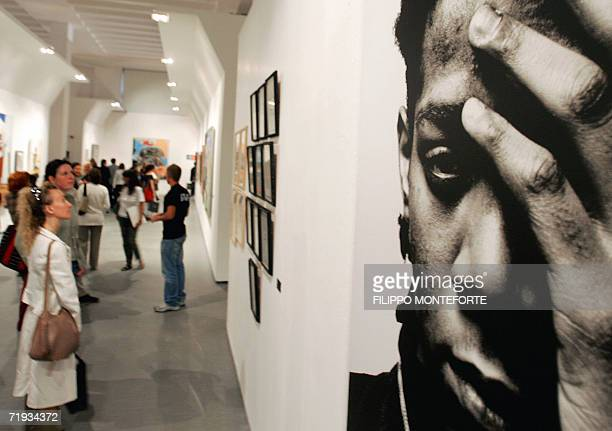 A portrait of US artist JeanMichel Basquiat is pictured 19 September 2006 in Milan on the eve of the opening of 'The JeanMichel Basquiat Show' AFP...