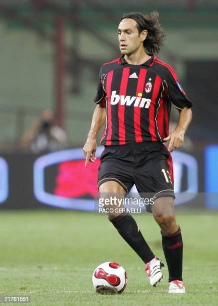 AC Milan's defender Alessandro Nesta controls the ball during their TIM Cup football match against Juventus at San Siro stadium in Milan 31 August...