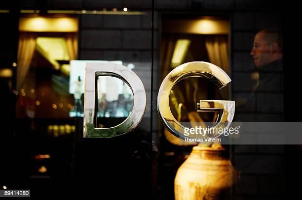 Milan Italy Dolce and Gabbana in Via della spiga