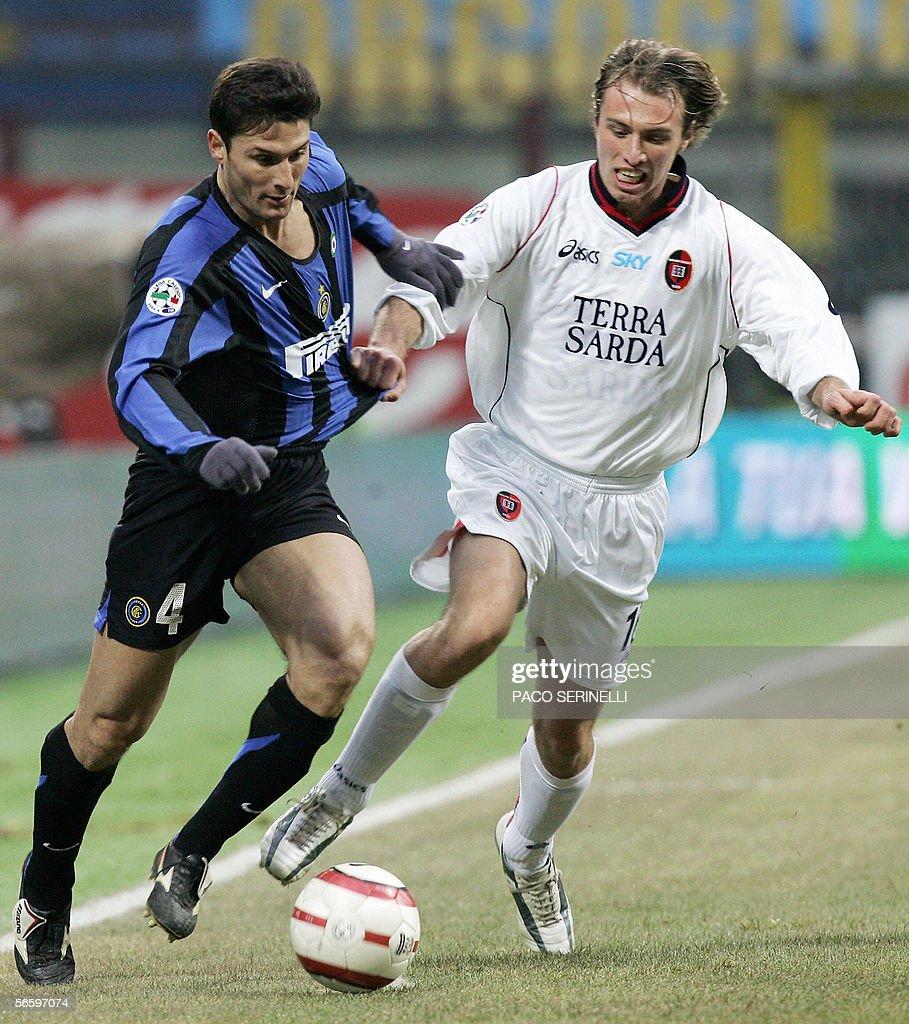 Inter Milan s defender Javier Zanetti L
