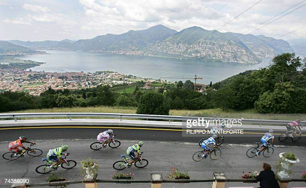 Italy's Danilo Di Luca rides with the pack during the twentyfirst and last stage of the Giro d'Italia cycling race a 185 Km ride from Vestone to...