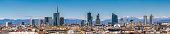Milan Italy - panoramic view of new skyline