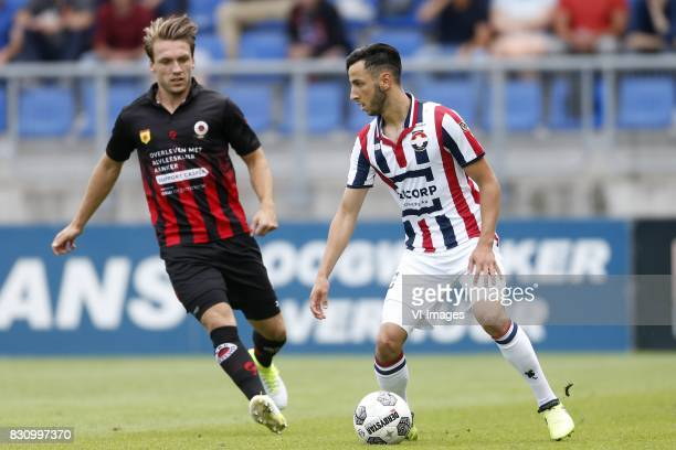 Milan Massop of Excelsior Ismail Azzaoui of Willem II during the Dutch Eredivisie match between Willem II Tilburg and sbv Excelsior at Koning Willem...