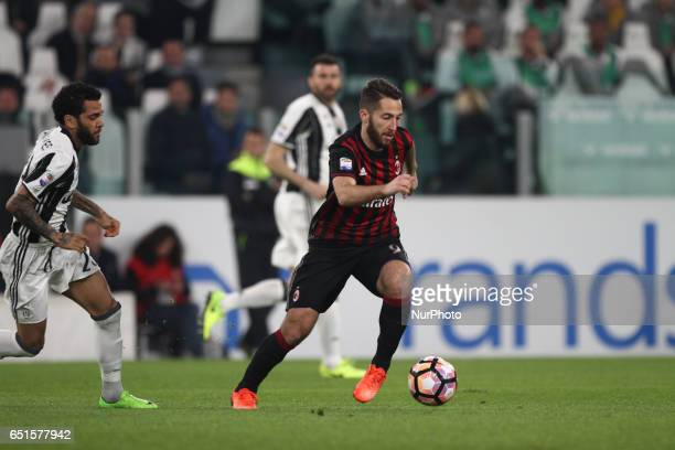 Milan midfielder Andrea Bertolacci in action during the Serie A football match n28 JUVENTUS MILAN on at the Juventus Stadium in Turin Italy