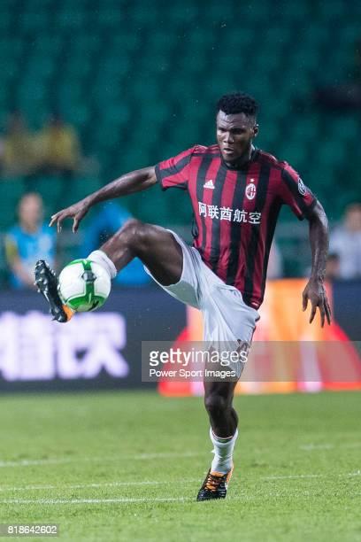 Milan Midfielder Franck Kessie in action during the International Champions Cup 2017 match between AC Milan vs Borussia Dortmund at University Town...