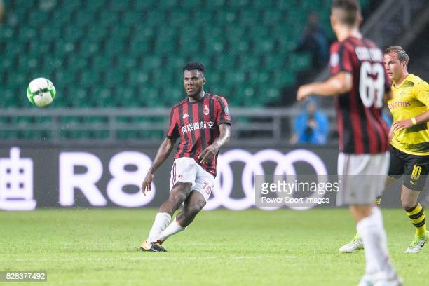 Milan Midfielder Franck Kessie looks to bring the ball down during the International Champions Cup 2017 match between AC Milan vs Borussia Dortmund...