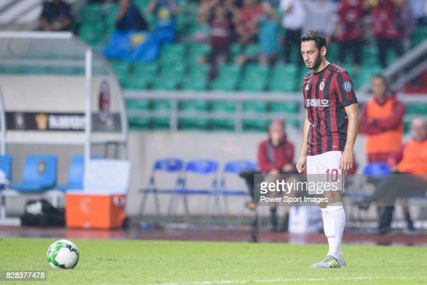 Milan Midfielder Hakan Calhanoglu in action during the International Champions Cup 2017 match between AC Milan vs Borussia Dortmund at University...