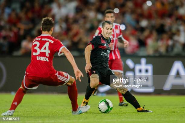 Milan Midfielder Jose Mauri in action during the 2017 International Champions Cup China match between FC Bayern and AC Milan at Universiade Sports...