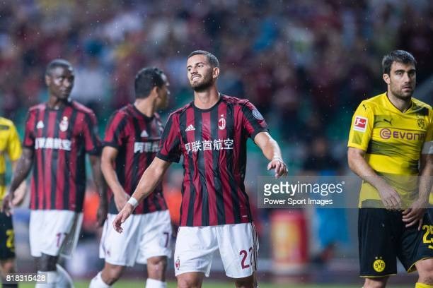 Milan Midfielder Mateo Musacchio reacts during the International Champions Cup 2017 match between AC Milan vs Borussia Dortmund at University Town...