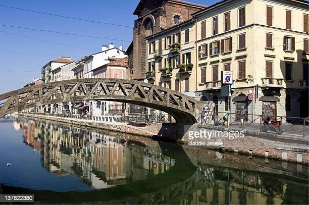 Milano-Naviglio. Immagine a colori