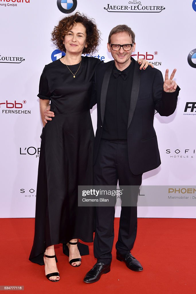 Milan Peschel (R) attends the Lola - German Film Award (Deutscher Filmpreis) on May 27, 2016 in Berlin, Germany.