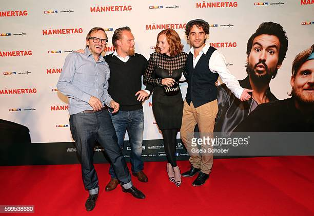 Milan Peschel Axel Stein Lavinia Wilson and Oliver Wnuk during the premiere for the film 'Maennertag' at Mathaeser Filmpalast on September 5 2016 in...