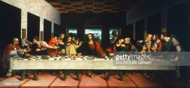 Milan Pinacoteca Di Brera Copy of the Last Supper by Leonardo da Vinci by Cesare Magni