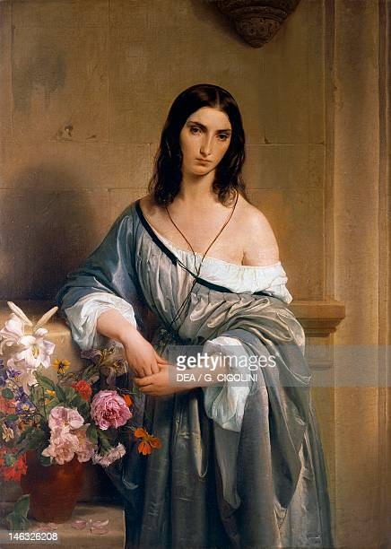 Milan Pinacoteca Di Brera Melancholy by Francesco Hayez oil on canvas 138x101 cm