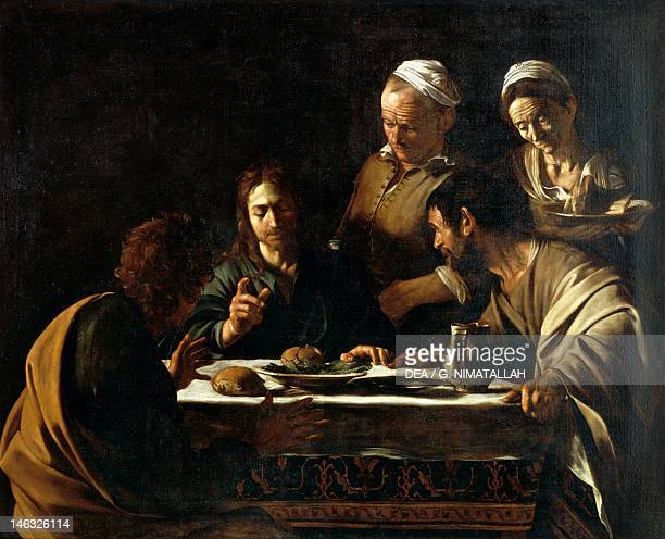 Milan Pinacoteca Di Brera The Supper at Emmaus 16051606 by Michelangelo Merisi da Caravaggio oil on canvas 141x175 cm