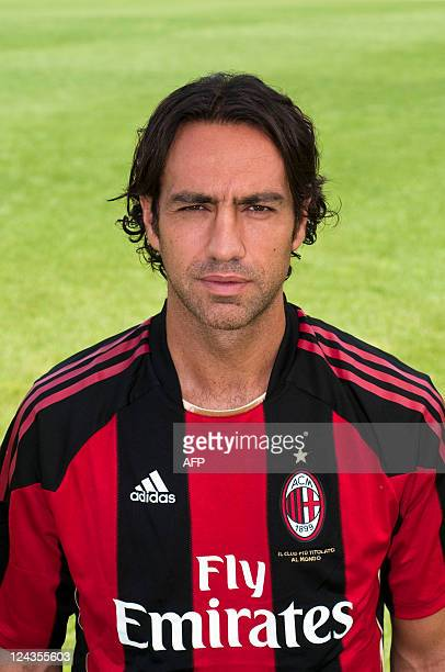 AC Milan player Alessandro Nesta poses in Milanello on August 23 2010 AFP PHOTO / AIC PHOTO