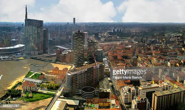 Milan seen from above