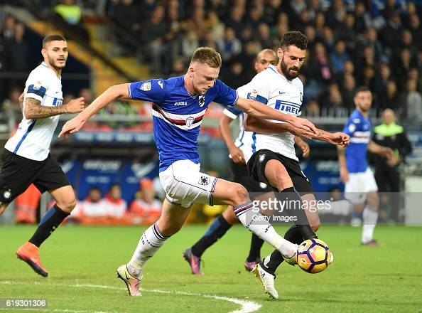 Milan Skriniar and Antonio Candrev during the Serie A match between UC ...