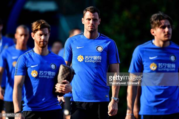 Milan Skriniar of FC Interernazionale looks during an official ICC Singapore Training Session at Bishan Stadium on July 28 2017 in Singapore
